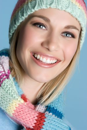 beanies: Smiling Winter Woman