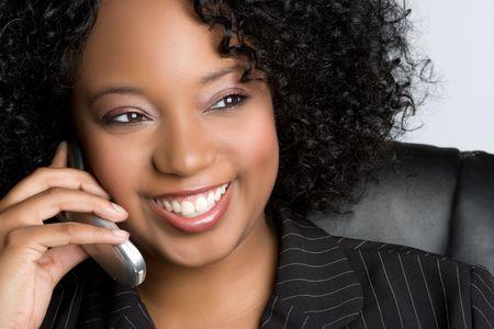 Phone Woman Banco de Imagens