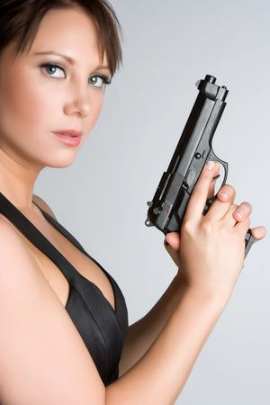 Woman With Handgun Stock Photo - 4977185