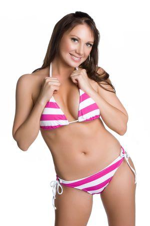 bathing beauty: Summer Bikini Girl Stock Photo