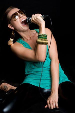 Rock Star Singing Stock Photo - 5020818