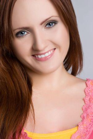 Smiling Redhead Girl photo
