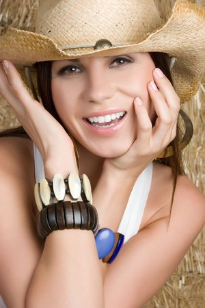 Smiling Country Woman Stock Photo - 5020835