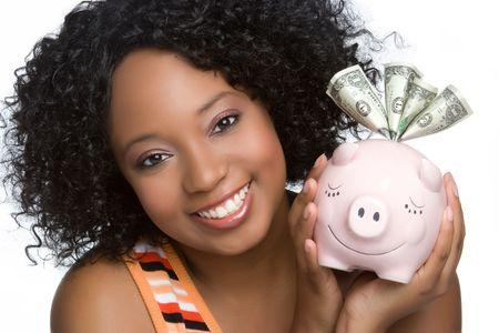 Piggybank Girl Banco de Imagens