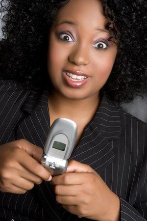 Businesswoman Texting Banco de Imagens