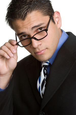 Usar gafas de negocios