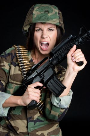 Yelling Soldier Stock Photo - 5020855
