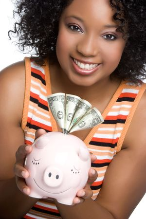 Happy Money Woman Stock Photo - 5020859