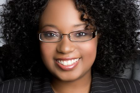 gorgeous businesswoman: Black Businesswoman Smiling