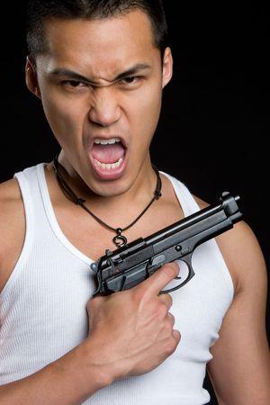 youth crime: Gun Man LANG_EVOIMAGES