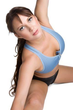 Stretching Woman photo