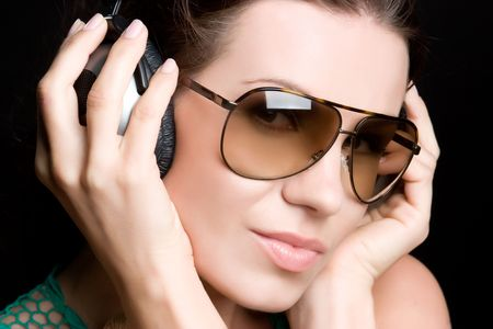 shades: Music Listening Woman