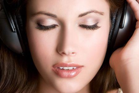 Beautiful Headphones Girl Stock Photo - 5037542