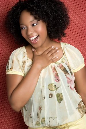 Laughing Black Girl Stock Photo - 5045784