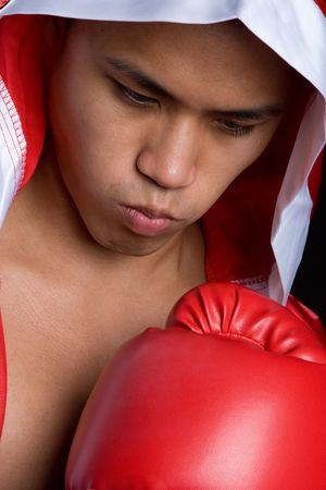 Asian Boxing Man Stock Photo - 5066555
