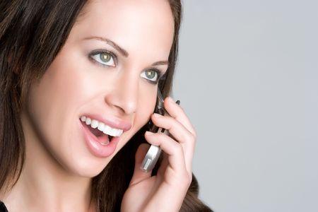 Happy Phone Girl Stock Photo - 5066541