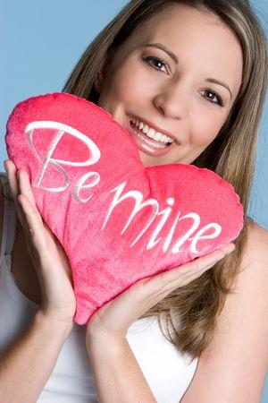Woman Holding Heart Stock Photo - 5066546