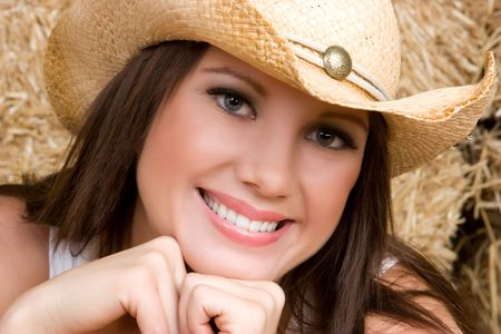 up country: Smiling Cowgirl