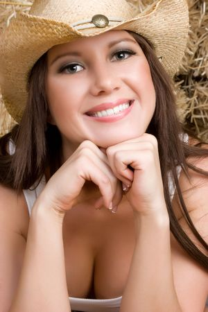Happy Cowgirl photo