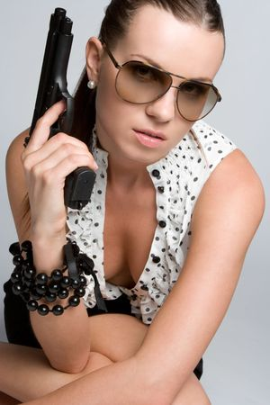 Sexy Gun Woman Stock Photo - 5066539