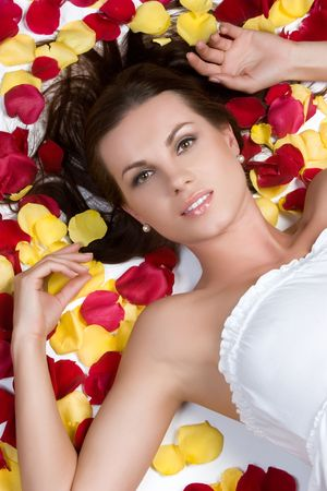 Laying in Rose Petals