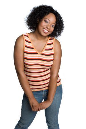 Smiling African American Girl Stok Fotoğraf