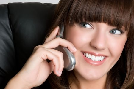 Smiling Business Phone Woman photo