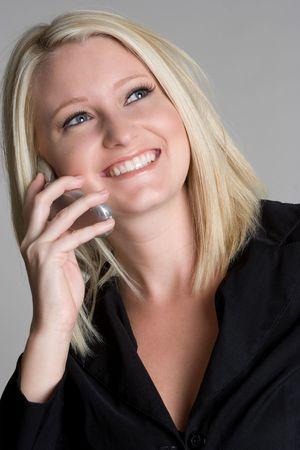 Blond Woman Using Phone Stock Photo - 5121154