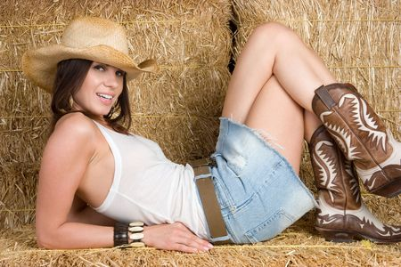 jeans boots: Cute Country Woman