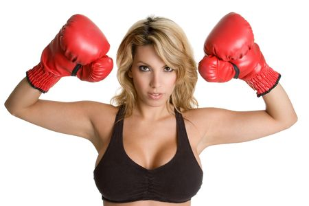 woman boxing gloves: Boxing Woman