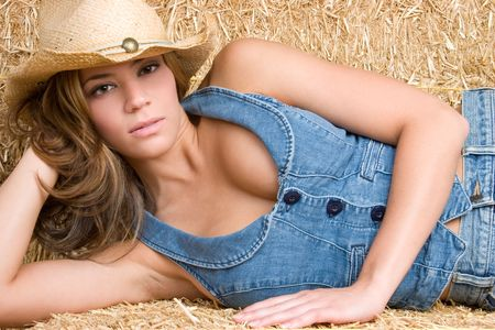 Country Woman Laying Down Stock Photo - 5165499