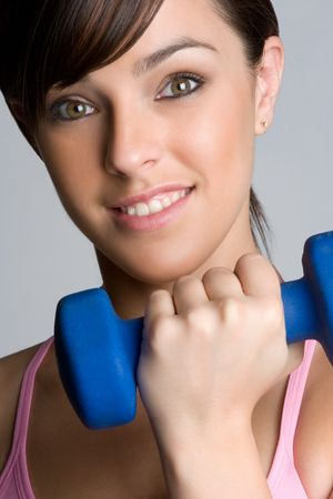 Woman Lifting Weights Stock Photo - 5159551