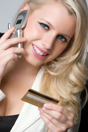 Woman Credit Card Shopping Stock Photo - 5159558