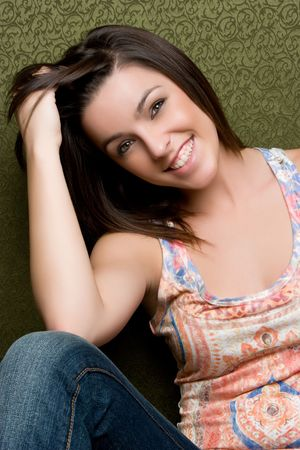 Cheerful Young Girl Stock Photo - 5159560