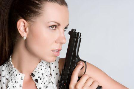 Sexy Woman With Gun Stock Photo - 5159561