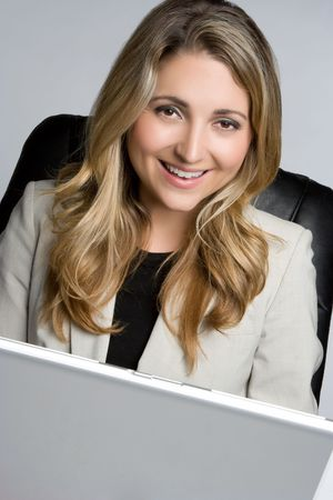 Businesswoman on Laptop Stock Photo - 5165506