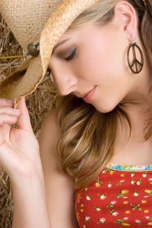 barn girls: Blond Cowgirl
