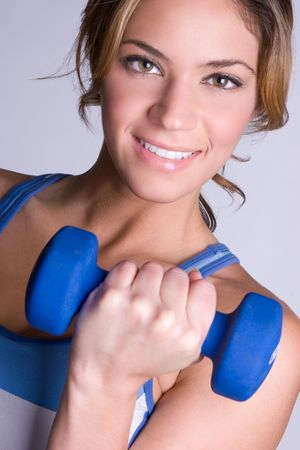 Smiling Workout Woman Stock Photo - 5165502