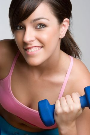 Girl Lifting Weights Stock Photo - 5171775