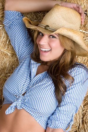 Laughing Cowgirl Stock Photo - 5187781