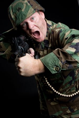 Soldier With Gun Stock Photo - 5187783