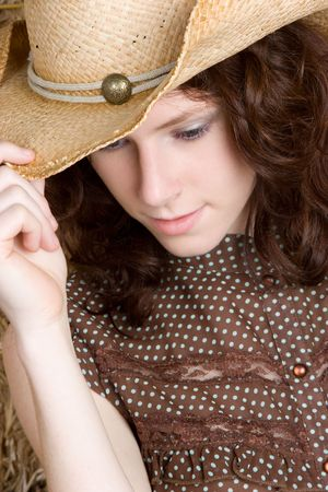 Closeup of Cowgirl Stock Photo - 5187790