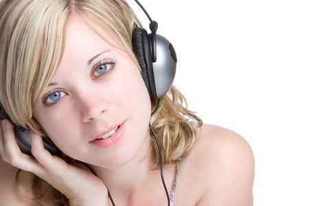 Headphones Woman Stock Photo - 5183310