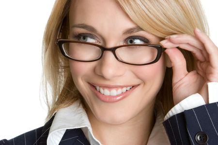 Woman Wearing Eyeglasses photo