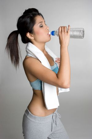 korean ethnicity: Water Bottle Girl LANG_EVOIMAGES