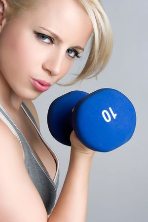 Blond Girl Working Out Stock Photo - 5187801