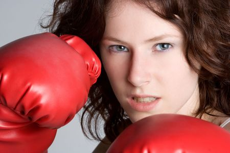 Boxing Girl Stock Photo - 5218568