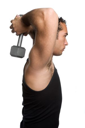 Male Lifting Weights photo