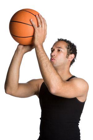 hombre disparando: Hombre Tiro Baloncesto