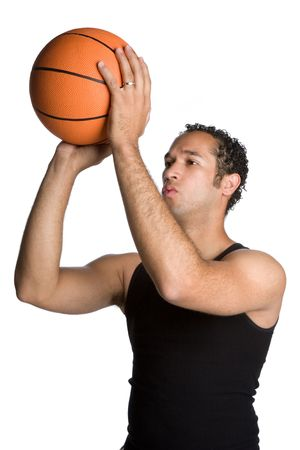 Man Shooting Basketball photo